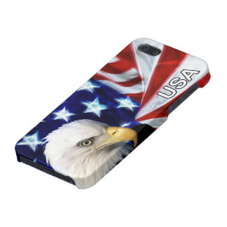 American Flag with Bald Eagle iPhone 5/5S Case