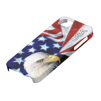 American Flag with Bald Eagle Patriotic Case For The iPhone 5