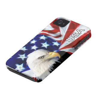 American Flag with Bald Eagle Patriotic iPhone 4 Case-Mate Case