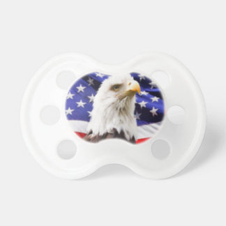 American Flag with Eagle Baby Pacifiers