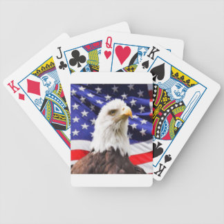 American Flag with Eagle Bicycle Playing Cards