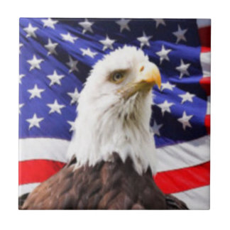 American Flag with Eagle Ceramic Tiles