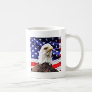 American Flag with Eagle Coffee Mug
