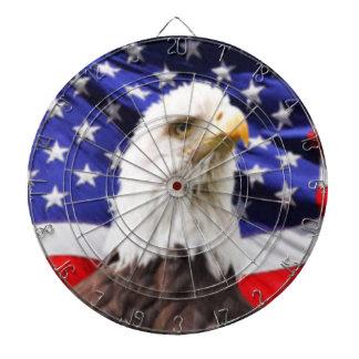 American Flag with Eagle Dartboard