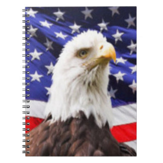 American Flag with Eagle Notebooks