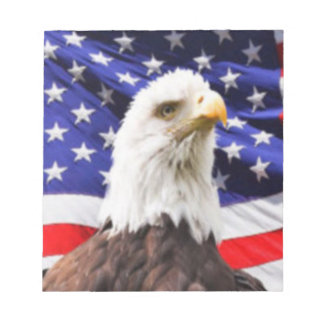 American Flag with Eagle Notepad