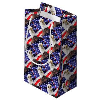 American Flag with Eagle Small Gift Bag