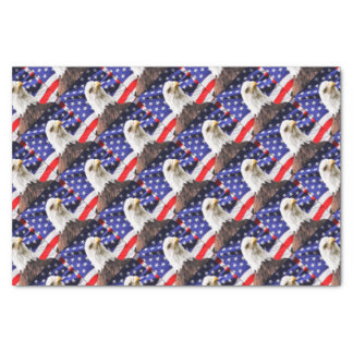 American Flag with Eagle Tissue Paper