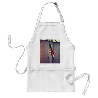 American Flag with Grain Bins Standard Apron