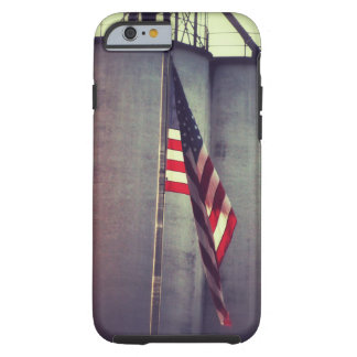 American Flag with Grain Bins Tough iPhone 6 Case