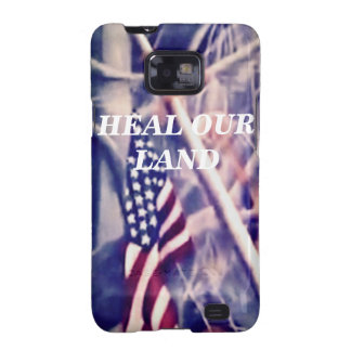 American Flag with Inspirational Quote Samsung Galaxy SII Covers