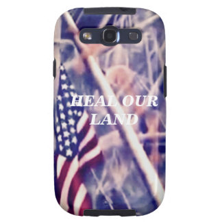 American Flag with Inspirational Quote Samsung Galaxy SIII Cases