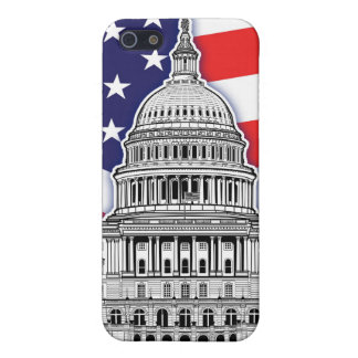 American Flag with The U.S. Capitol Building Case For iPhone 5/5S