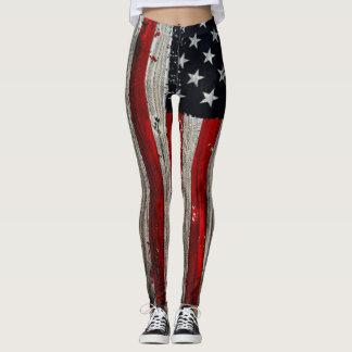 american flag womens leggings