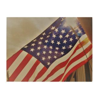 American Flag Wood Decoration