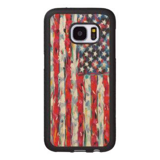 American Flag Wood Samsung Galaxy S7 Case