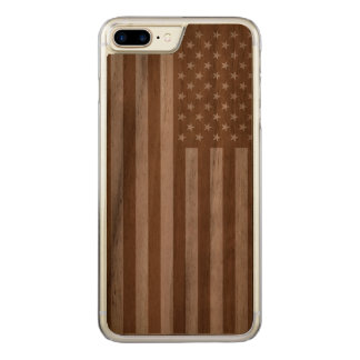 American Flag Wooden Carved iPhone 7 Plus Case