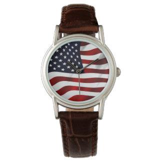 American Flag Wrist Watch