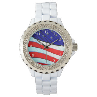 American Flag Wrist Watch