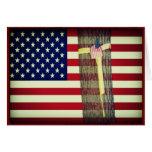 American Flag/Yellow Ribbon Military Greeting Card