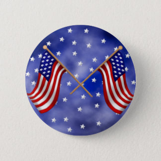 American Flags 2 Inch Round Button