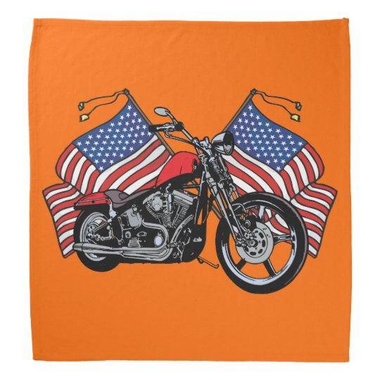 American Flags Classic Motorcycles Biker Bandana