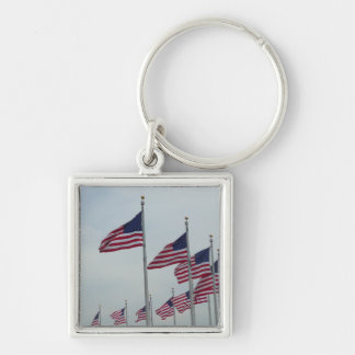 American Flags Keychain