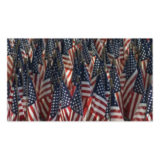 American Flags Pack Of Standard Business Cards