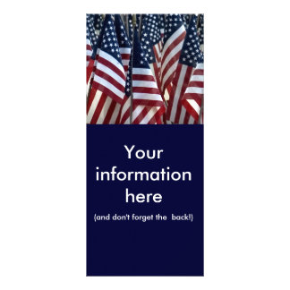 American Flags Full Color Rack Card