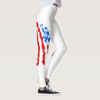 American Flags usa united states stars blue red Leggings