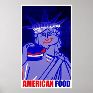 """American Food"" by Urban59 Studio Posters"