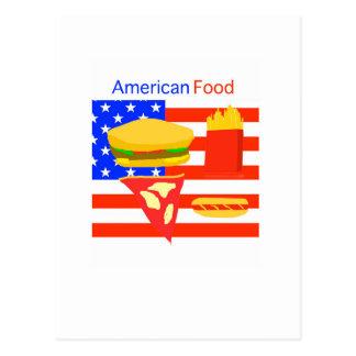 American Food. Postcard