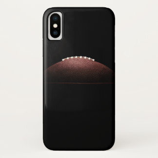 American football ball on black background iPhone x case