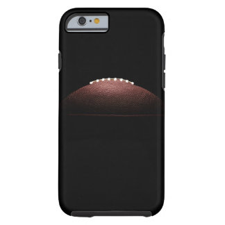 American football ball on black background tough iPhone 6 case