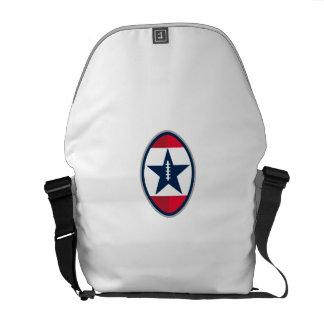 American Football Ball Star Stripes Retro Courier Bag