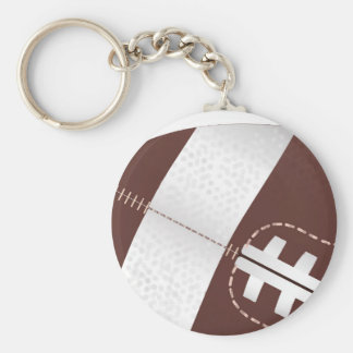 American Football Ball Up Close Basic Round Button Keychain