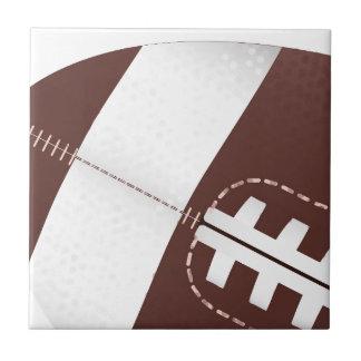 American Football Ball Up Close Ceramic Tiles
