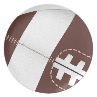 American Football Ball Up Close Plate