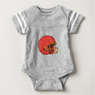 American Football Helmet  Tattoo Baby Bodysuit