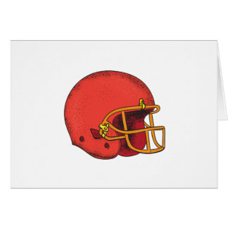American Football Helmet  Tattoo Card