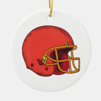 American Football Helmet  Tattoo Ceramic Ornament
