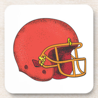 American Football Helmet  Tattoo Coaster