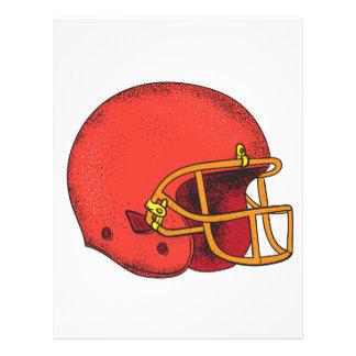 American Football Helmet  Tattoo Letterhead