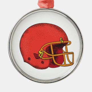 American Football Helmet  Tattoo Metal Ornament