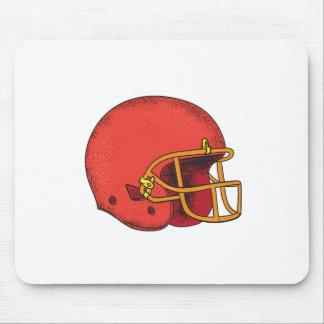 American Football Helmet  Tattoo Mouse Pad