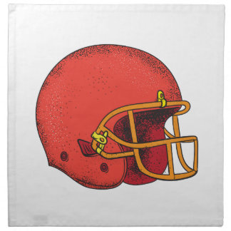 American Football Helmet  Tattoo Napkin