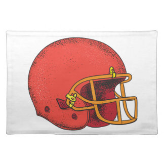 American Football Helmet  Tattoo Placemat