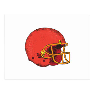American Football Helmet  Tattoo Postcard