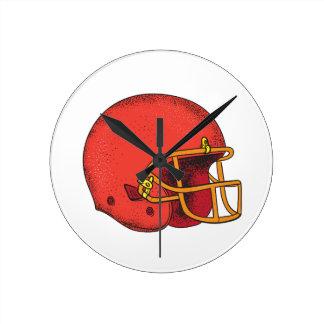 American Football Helmet  Tattoo Round Clock