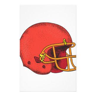 American Football Helmet  Tattoo Stationery